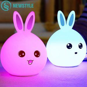 Niedliches Kaninchen LED-Nachtlicht